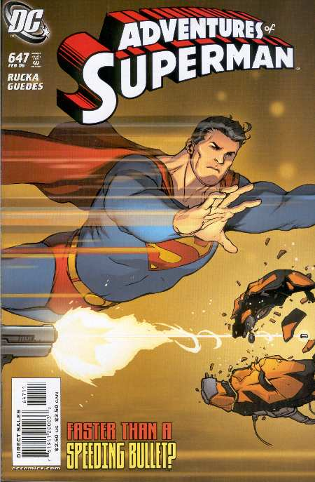 ADVENTURES OF SUPERMAN #647. PORTADA DE KARL KERSCHL