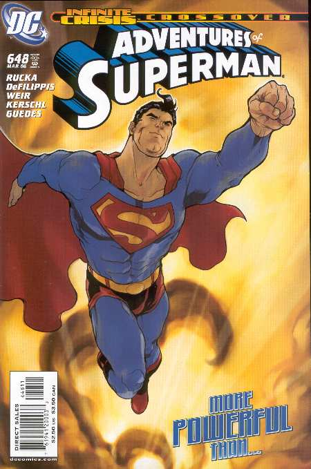 ADVENTURES OF SUPERMAN #648. PORTADA DE KARL KERSCHL