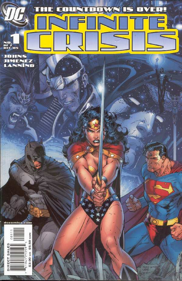 INFINITE CRISIS #1 PORTADA ORDINARIA
